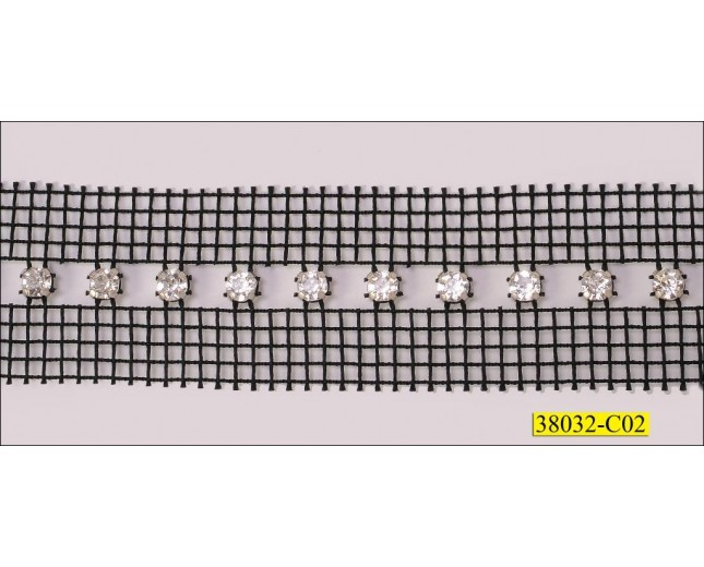 1 Row Crystal with Space Net 2 sides 1 1/4''