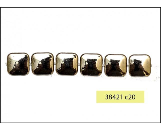 "9/16"" Square Metal Chain Gunmetal"