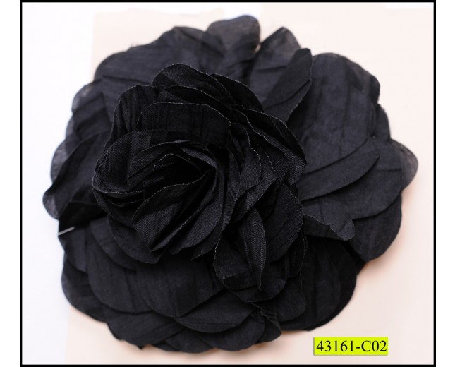 Flower Applique 12cm Black