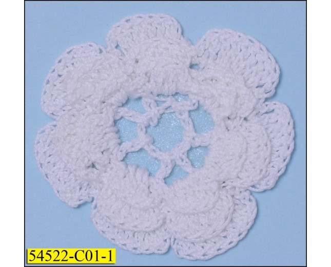 Crochet Cotton Daisy Flower White