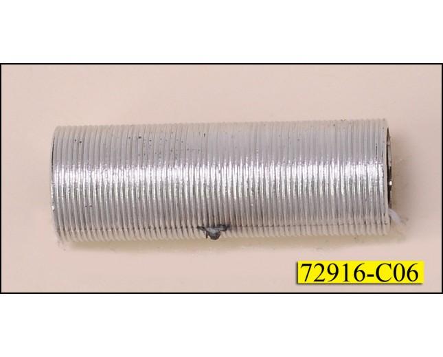 """Tubular Plastic Ring 1 1/2"""" x 1/2"""" Silver"""