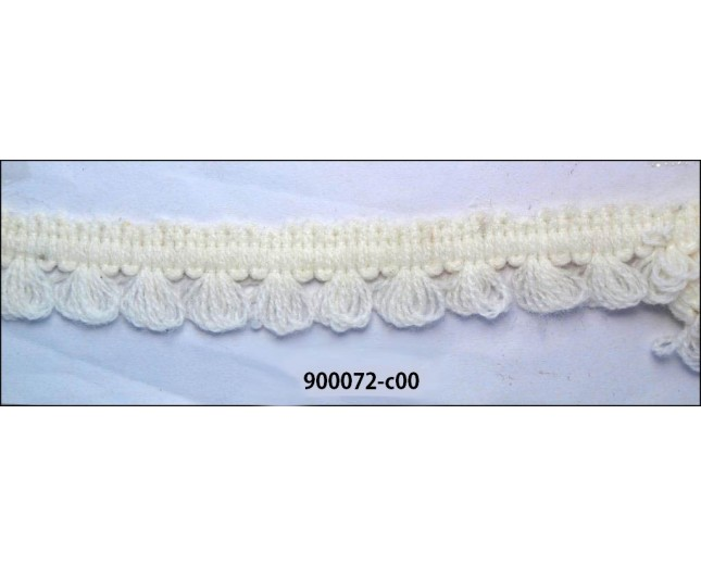 "Braided Looped Wooly 3/4"" Off-White"