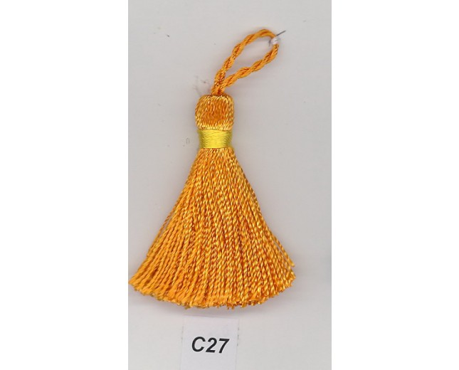 "Tassel 100% Rayon 1 3/4"" Orange"