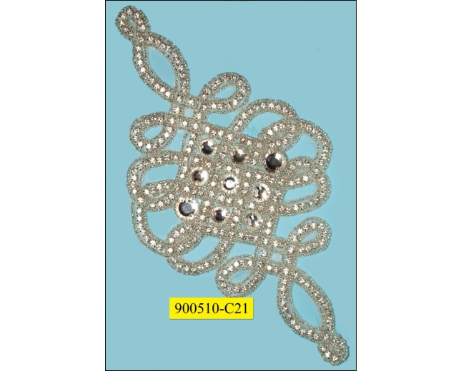 "Applique Multisize Rhinestones looping 5x10 3/8"" Clear"