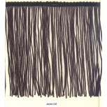 "Chainette Fringe Cut (1"" = 10 strands) 6 1/2 Black"