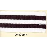 "1 3/8"" W/B/W/B/W Knitted Grosgrain D/F Blk/White"