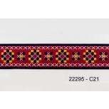 15/16'' Cross Stitch 44.5 Red Jacquard
