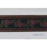 1 1/2'' Black Floral Jacquard