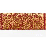 "9"" 44.5 Red and Gold Sari Border"