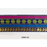 "1 1/2"" 44.5 Purple, fuchsia, green, gold and blue jacquard"