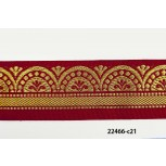 "1 1/2"" bright red and gold arch jacquard"