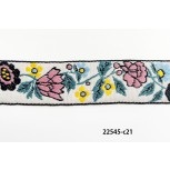 1'' Jacquard Tape and Flowers
