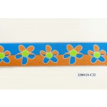 Polyester Jacqiard Floral 32mm