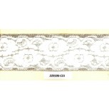 Elastic w/floral lace paste on it 2 1/4 White/Gold