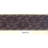 Elastic w/floral lace paste on it 2 1/4 Black/Gold