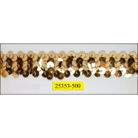 2 Row Gold stretch Sequin 3/4''