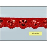 """Sequined Scalloped Stretch Lace 1 1/2"""""""