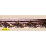 Beaded Leatherette Floral Scalloped 1 Edge 1 1/4""