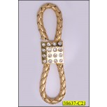 Buckles loop with square stones Gold