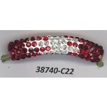 Tube curve w/R.stones 1 3/4 Red/White/Clear