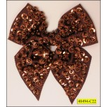 "Applique Bow with Sequins 3"" x3 1/2"""