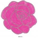 App.Rose R/stones&beads5 1/2x 6 1/4Clear/Fushia