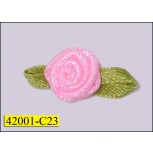 "3/8"" Rosette with willow leaf"