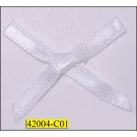 "1/8"" White Ribbon Bow with 1 1/4"" span"