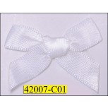 "1/3""  White Ribbon Bow with 1 1/2"" span"
