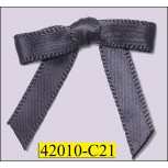 """1/4"""" Grey Satin Bow  with 1 1/4"""" span"""