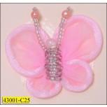 Beaded Organza Butterfly 4.5cm x 3.7cm