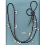 Belt w/leather cord/Pearls/Rstones59Ivo/Go/Clr/Blk
