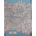 Lace guipure wbig flowers BS scalop7 1/2 White