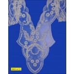 """15 1/2"""" embroidered Tulle Bib lace Applique"""