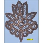 "Applique Beaded Embroided Crochet Flower 6 1/4""X7 1/2"""