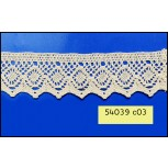 38mm Natural crochet lace