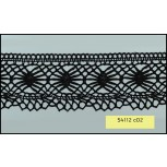 Crochet Lace Scallop 1 Edge 100% Cotton 55mm Black
