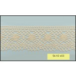 Crochet Lace Scallop 1 Edge 100% Cotton 55mm