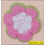 Crochet Cotton Daisy Flower 1 7/8""