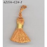 "Rayon Tassel w/YELLOW band 1 5/8"" ORANGE"