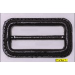 Plastic Rectangle Buckle with Bar Inner Diameter 1 7/8""