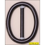 Buckle Oval Tube Plastic Inner Diameter 1 3/4""