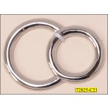 "Ring Metal Double 2 5/8""x1 7/8"" Nickel"