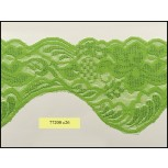 """Elastic Floral Scalloped Raschel Lace 3 7/8"""""""
