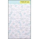 """Elastic Floral Scalloped Lace 11 1/2"""" White"""