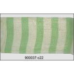 """Organza 2 Verticle Stripes Sheer Ribbon 1 1/2"""" Green"""