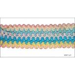"""Cord Braided Scallop Edges 1 3/4"""" Multicolor"""