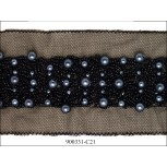Chiffon with stones and beads Black