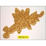 Rhinestone Applique HotFix Gold