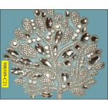 "Applique Multisize Rhinestones 8 5/8x9 1/8"" Clear"